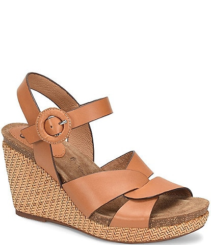 Sofft Casidy Leather Woven Wedges