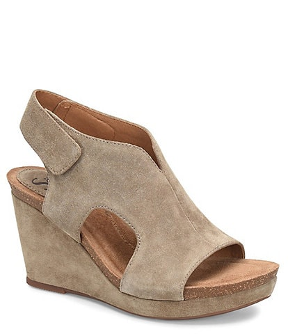 Sofft Chloee Suede Wrapped Wedge Sandals