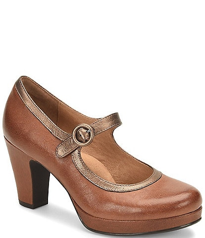 Sofft Grayling Leather Mary-Jane Pumps