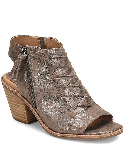 Sofft Mckenna Woven Metallic Leather Sandals
