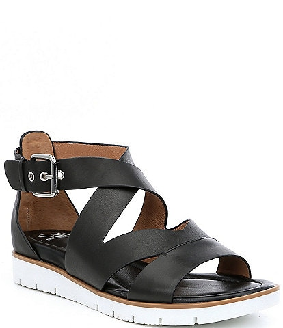 bdf0d3541f97d Sofft Mirabelle Leather Criss Cross Sandals