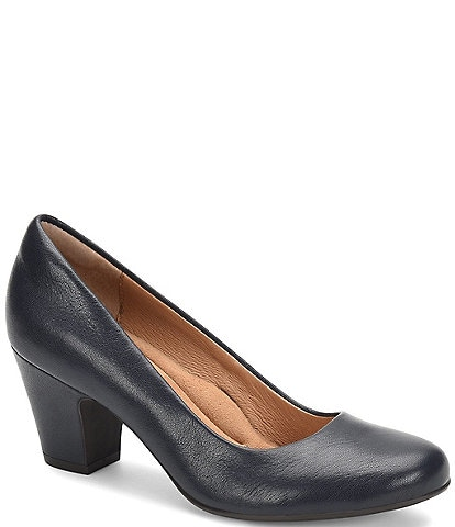 Sofft Myka Leather Block Heel Pumps
