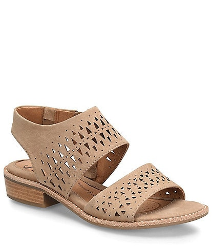 Sofft Nell Leather Block Heel Sandals