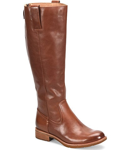 Sofft Samantha Leather Tall Block Heel Riding Boots