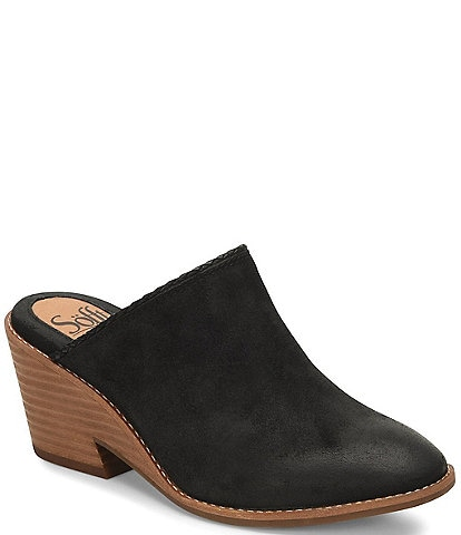Sofft Samarie Suede Leather Slip-On Clogs