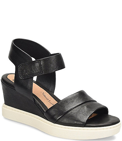 Sofft Samyra Leather Athletic Inspired Wedges
