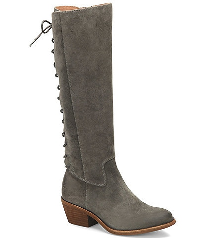 Sofft Sharnell Heel Suede Leather Adjustable Waterproof Boots