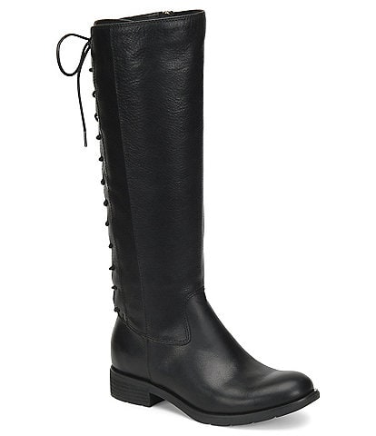 Sofft Sharnell II Waterproof Leather Lace Up Back Tall Boots