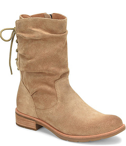 Sofft Sharnell Low Waterproof Suede Block Heel Boots