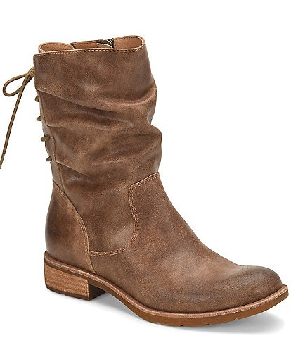Sofft Sharnell Low Waterproof Leather Block Heel Boots