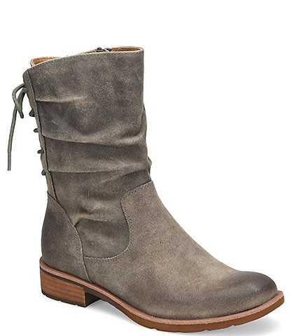 Sofft Sharnell Low Waterproof Suede Lace Back Boots