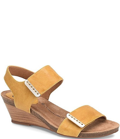 Sofft Verdi Banded Leather Wedges