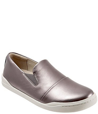 SoftWalk Alexandria Leather Slip-On Sneakers