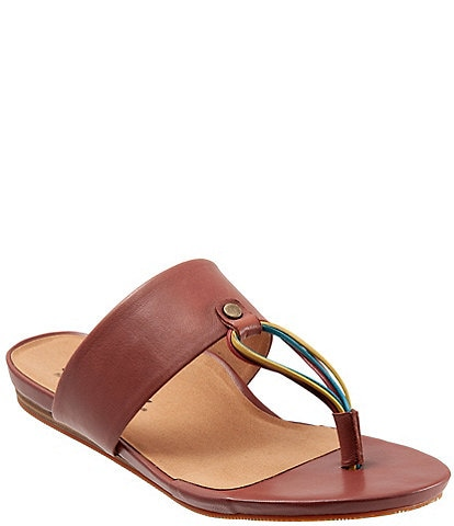 Softwalk Calimesa Leather Thong Slide Sandals