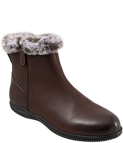 SoftWalk Helena Faux Fur Lined Leather Booties