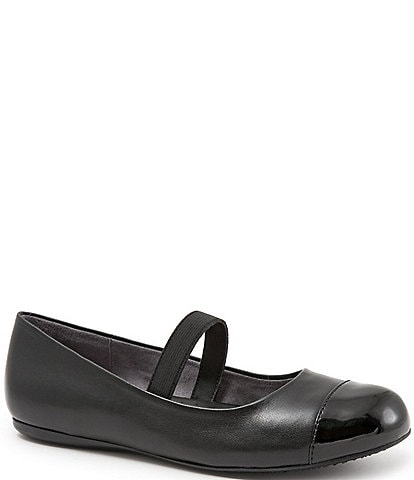 SoftWalk Napa Patent Cap Toe Mary Jane Flats