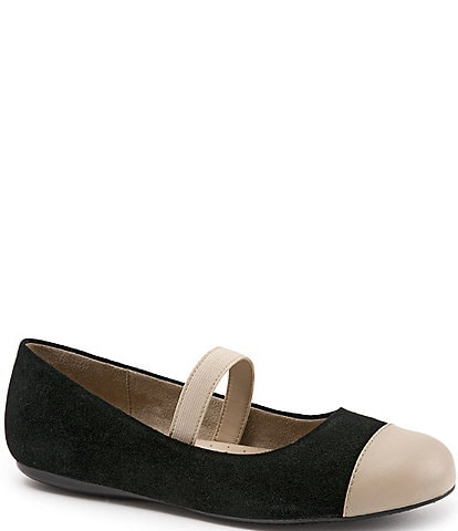 SoftWalk Napa Suede Mary Jane Flats