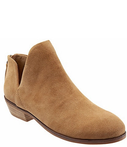 SoftWalk Rylee Suede Block Heel Ankle Booties
