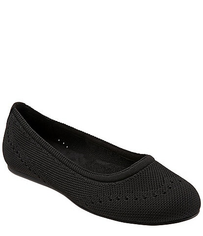 SoftWalk Santorini Tailored Stretch Knit Slip On Flats