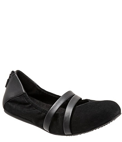 SoftWalk Sierra Suede Mary Jane Ballerina Slip Ons