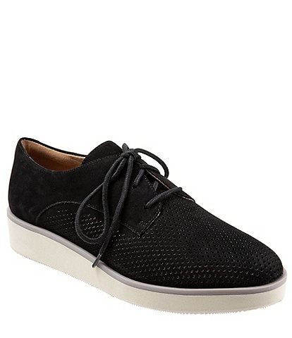 SoftWalk Willis Perforated Nubuck Platform Oxfords