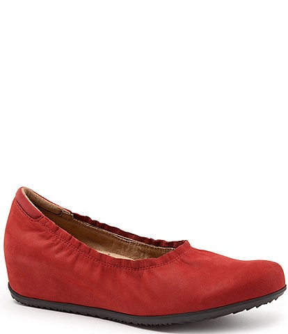 SoftWalk Wish Suede Slip-On Wedges