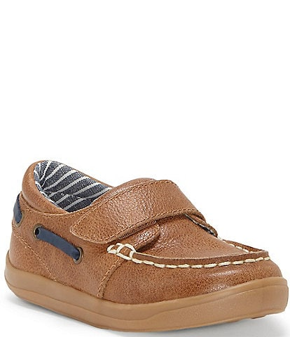 Sole Play Boys' Luka One Strap Moc Boat Shoes