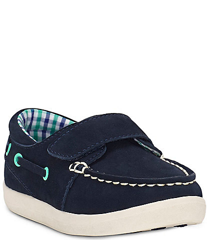 Sole Play Boys' Luka Suede One Strap Moc Boat Shoes Infant