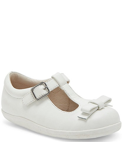 Sole Play Girls' Laila Bow Detail T-Strap Shoes (Infant)