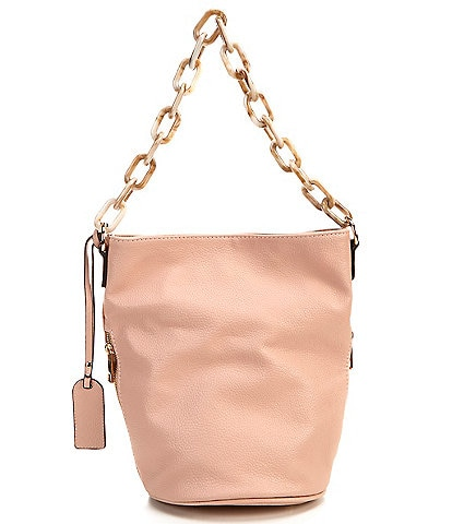 Sole Society Fayre Bucket Chain Vegan Leather Crossbody Bag