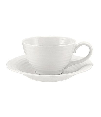 Sophie Conran For Portmeirion Porcelain Jumbo Cup & Saucer