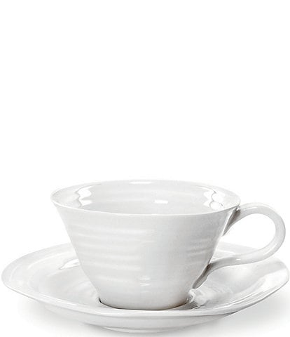 Sophie Conran for Portmeirion Porcelain Teacup & Saucer Set