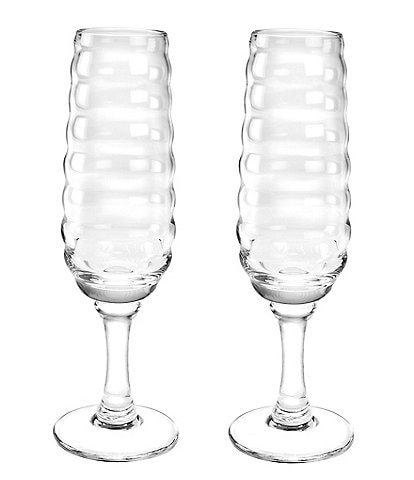 Sophie Conran for Portmeirion Ribbed Champagne Flute Pair