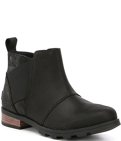 SOREL Emelie Waterproof Chelsea Block Heel Booties