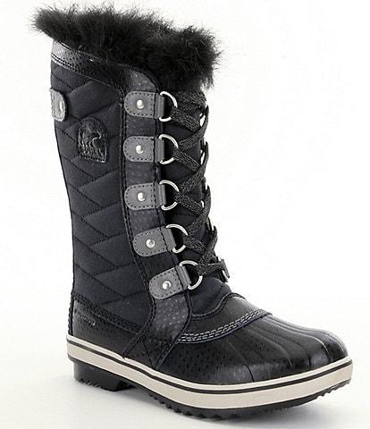 SOREL Girls' Waterproof Winter Faux Fur Tofino II Boots