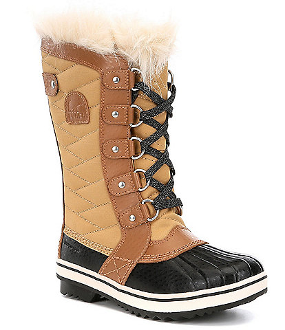 SOREL Girls' Waterproof Cold Weather Faux Fur Tofino II Boots