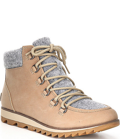 Sorel Harlow Lace Up Waterproof Leather Cozy Boots