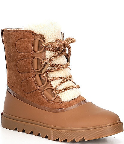 Sorel Joan Of Arctic Next Lite Waterproof Shearling Tongue Leather Lug Sole Winter Booties