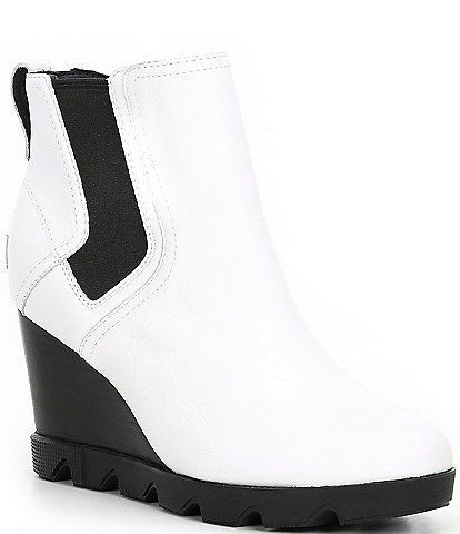 Sorel Joan Uptown Chelsea Waterproof Leather Wedge Booties
