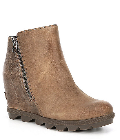 Sorel Joan Waterproof Leather Wedge 2 Zip boot