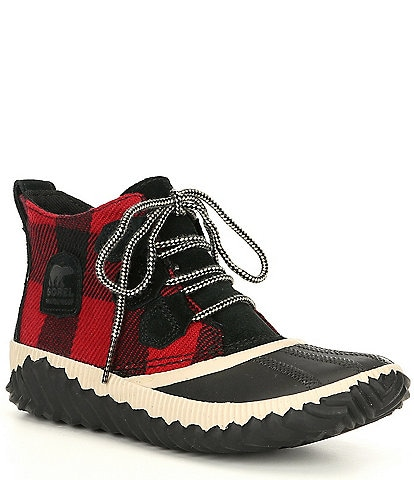 Sorel Out N About Plus Waterproof Plaid Booties