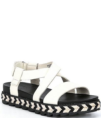 Sorel Roaming Leather Criss Cross Sandals