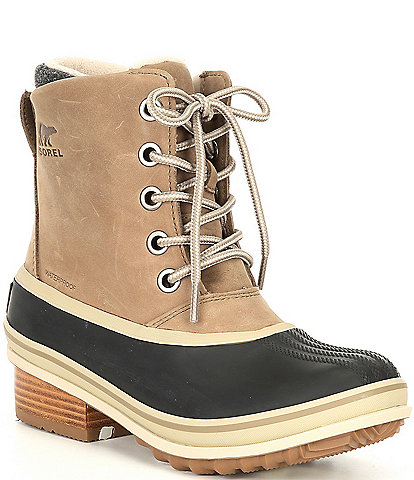 Sorel Slimpack III Lace-Up Waterproof Block Heel Winter Booties