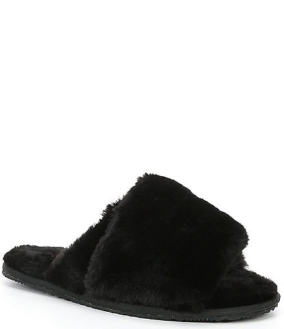 Sorel Go-mail Run Faux Fur Criss-Cross Slippers