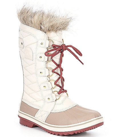 Sorel Tofino Waterproof Canvas Faux Fur Collar Lace-Up Boots