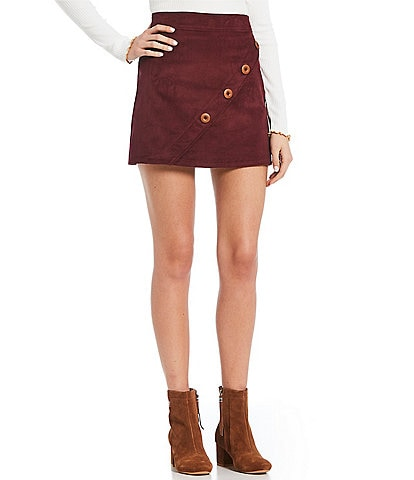 Soulmates Button Side Corduroy Skirt