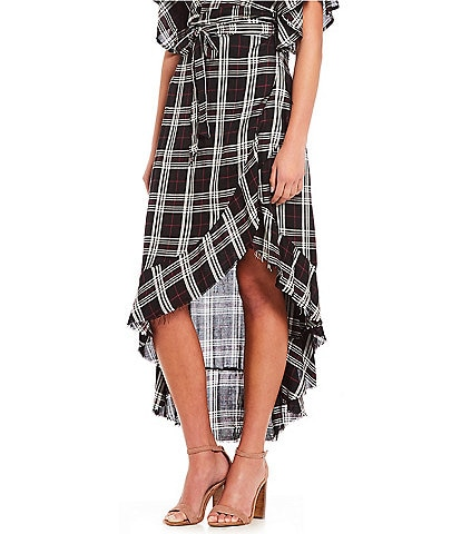 Soulmates Coordinating Plaid Wrap Skirt