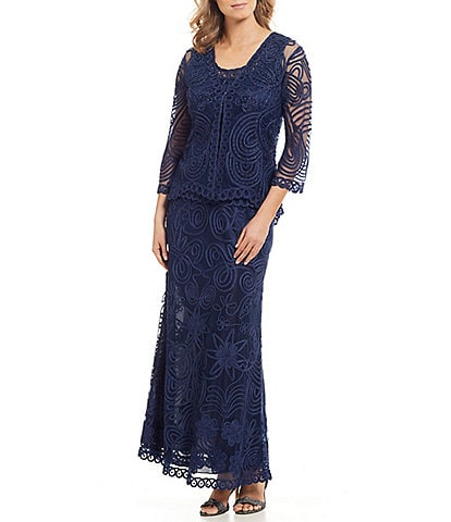 Soulmates Soutache Three Piece Paisley Lace Jacket Dress