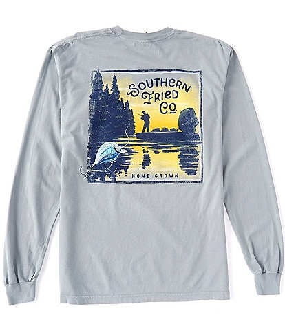 Southern Fried Cotton Bass Fishin Graphic Long-Sleeve Tee