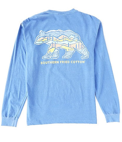Southern Fried Cotton Big Bear Graphic Long-Sleeve Tee